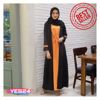 NEW !!! Gamis Syari Maxi Afrina / Dress Muslim Arabian Crepe Premium