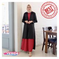NEW !!! Gamis Syari Maxi Nesa / Dress Muslim Arabian Crepe Premium
