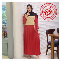 New Gamis Syari Maxi Amanda / Dress Muslim Arabian Crepe Premium