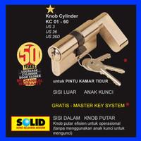 Silinder Kunci / Knob Cylinder SOLID KC 01 - 60 engkol