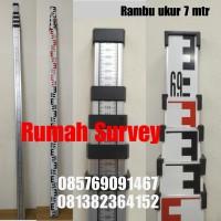 RAMBU UKUR 7M / BAK UKUR / LEVELLING STAFF 7 M + Nivo