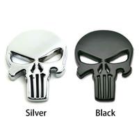 Emblem PUNISHER Mobil Motor Emblem 3D Metal Logo Tengkorak