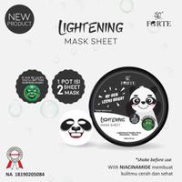 Syb animal mask panda pot / lightening mask SHEET /masker pencerah ISI