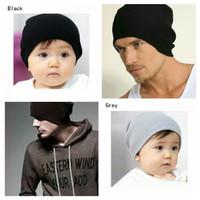 kupluk beanie tebal / topi kupluk rajut bolak balik anak sampai dewasa