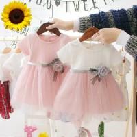 dress pesta ulang tahun anak perempuan 1-3 tahun import