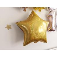 18 Gliter Hologram Gold/Silver Star Foil Balloon|Balon Foil Bintang