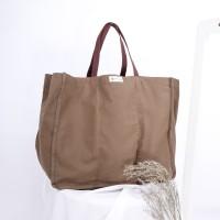 Tas Belanja Bahan Kanvas Ramah Lingkungan/Shopping Bag (Sekat Dalam)