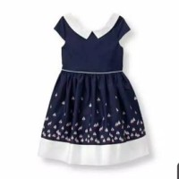 dress anak perempuan merk janie and Jack sisa ekspor (navy motif)
