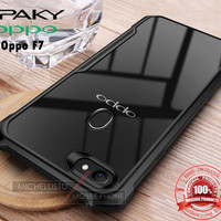 Case OPPO F7 iPAKY Armor Bumper Transparent Clear Original Soft