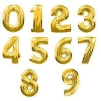 Balon Foil Huruf Nama dan Angka Gold / Emas