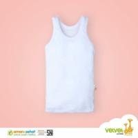 Baju bayi kaos dalam baby singlet Velvet Junior size XS S M L