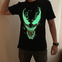Kaos VENOM Glow in the dark T-shirt MARVEL bukan Spiderman Ironman