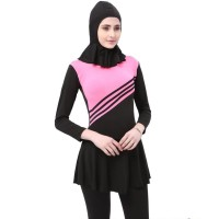 Baju Renang Kerudung Wanita Diving Style Swimsuit Size L - MA2204 - Pi
