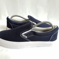 Sepatu Vans Slip On Navy / Biru Dongker Premium Import Grade Original