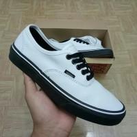 Sepatu Vans Authentic Putih Hitam / Black White Premium Import