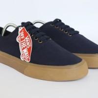Sepatu Vans Authentic Gum Navy / Biru Dongker Premium Import Grade Ori