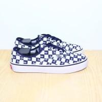 Sepatu Vans Supreme Checker Board Navy / Biru Dongker Premium Import