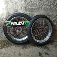 Wheelset Supermoto KLX 150 S L BF Dtracker - Banset 300 350 Maxxis