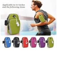 Tas Lengan HP Olahraga Armband Sport Wrist Holder tas HP serbaguna - Hitam