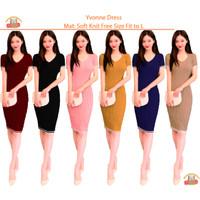 Bintang Rajut Indo || Yvonne Bodycon Dress Rajut Wanita