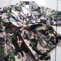 setelan piyama baju tidur anak model loreng abri tentara umur 3-8 tahn