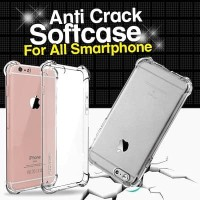 Anti crack softcase oppo vivo samsung xiaomi iphone all tipe
