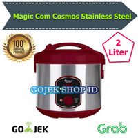 Magic Com Cosmos 2 Liter CRJ 9301 Stainless Steel Rice Cooker Penanak