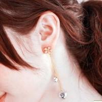 Anting Korea Flowers Crystal Ear Clip No Needle REA336
