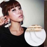 Anting Korea Flower Long Tassel Ear Clip No Needle REA359