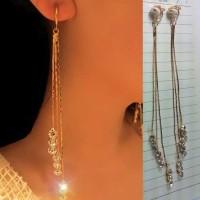 Anting Korea Diamond Ear Clip No Needle REA345