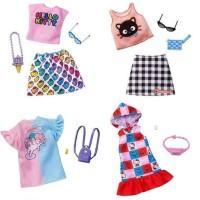 Baju Boneka Barbie Hello Kitty Rainbow Chococat Mattel Doll Fashion