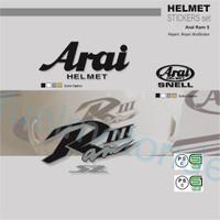 Sticker Set Helm Arai Ram 3 III utk repaint modif repair not shoei