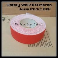 Isolasi Anti Slip KM Merah Ukuran 2inchi x 18.2M Safety Walk KM