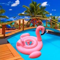 Ban Renang Model Flaminggo Pink untuk Anak Berenang di Musim