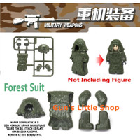 Brick - Accessories Army Camauflage Military Vest Armor Weapons Lego
