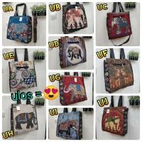 Tas thailand bangkok jumbo / tkte bag kanvas import gajah owl murah