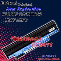Baterai Ori Acer Aspire One D260, D255, D255E, D257, D257E, 722, D270