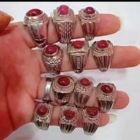 Cincin batu akik permata Merah ruby kwalitas dijamin asli natural
