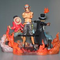 Action figure One Piece ASL Ace Sabo Luffy brotherhood DXF Banpresto