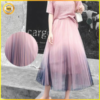 Rok Tutu Import Premium - Mesh Pleated Skirt Fluffy Pink