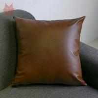 Sarung bantal kulit - sarung bantal shabby - bantal sofa kulit 60x60