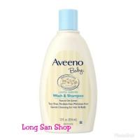 PROMO!! Aveeno Baby Wash & Shampoo 354 ml - Shampoo Bayi