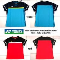Baju kaos badminton Yonex minions LADIES baju olahraga cewek jers