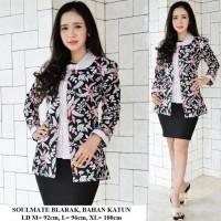 blouse Batik atasan kantor wanita Seragam kerja bunga limajari orens