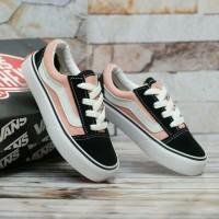 Vans Oldskool Black Pink White Shoes For Kids/Sepatu Anak-anak