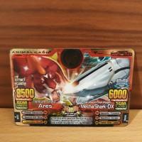 kartu animal kaiser ultra rare card ares meca shark dx gold ori mesin