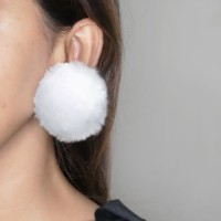 Anting Korea PomPom Ear Clip No Needle OKT509