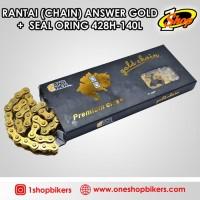 Rantai Chain Answer Gold   Seal Oring 428-140L | Paling Baru!!