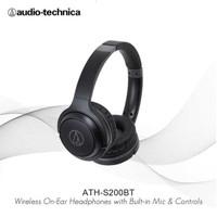 Audio-Technica ATH-S200BT Wireless Over-Ear Headphones - Hitam