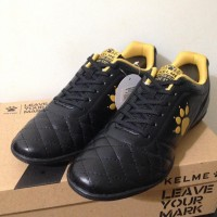 PROMO SPECIAL Sepatu Futsal Kelme Power Grip Black Gold 1102091